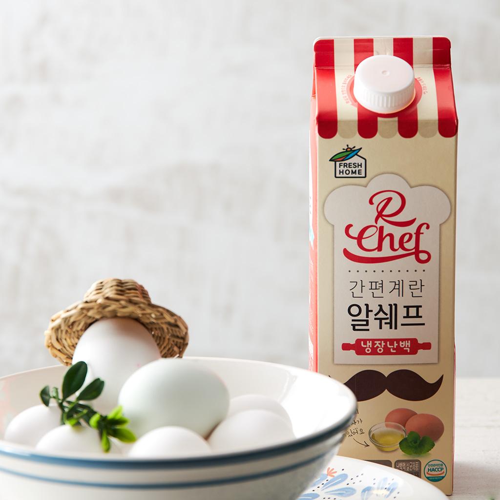 [프레쉬홈] 달걀 30알의 흰자만을 그대로 담은, 알쉐프 냉장난백