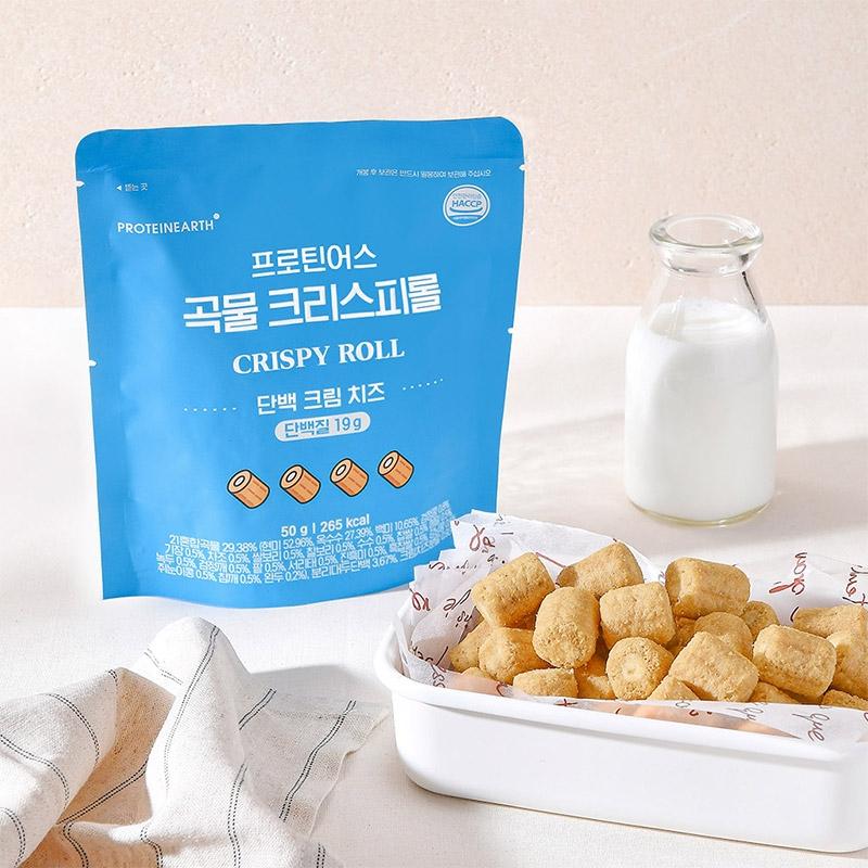 [프로틴어스] 곡물 크리스피롤 단백 크림 치즈