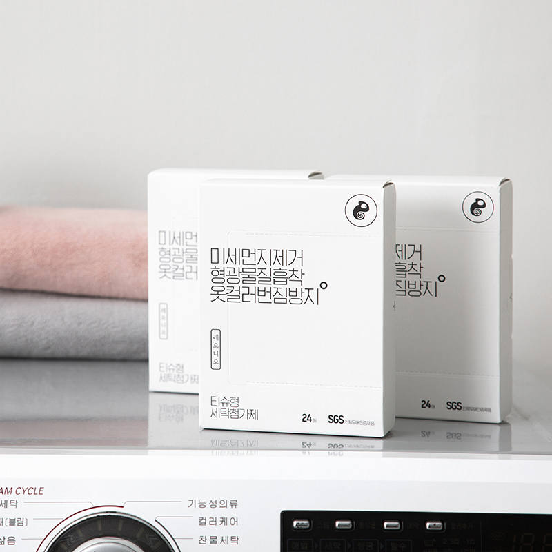 [맘카페대란] 레오니오 미세먼지+이염제거 세탁티슈 24매 10box/20box