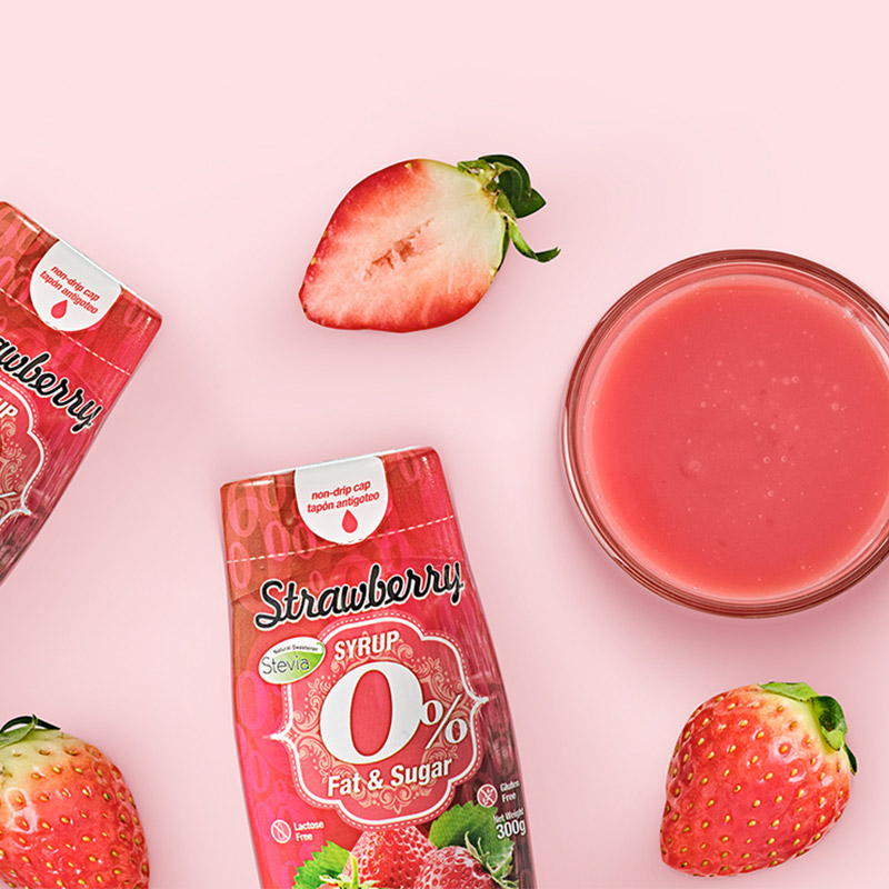 [무화당] 네츄럴제로 무설탕 딸기시럽 300g