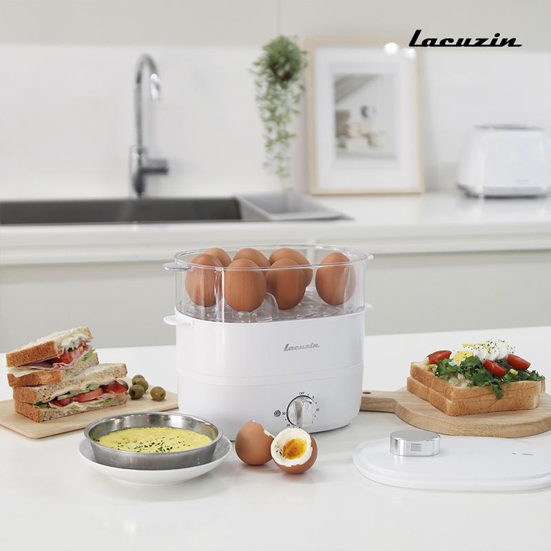 [라쿠진] 다용도 계란 멀티 쿠커 푸드 스티머 3종 LCZ060