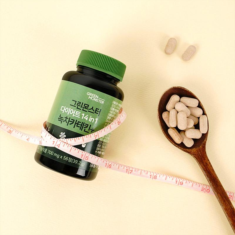 [그린몬스터] 다이어트 14in1 녹차카테킨+ 56정